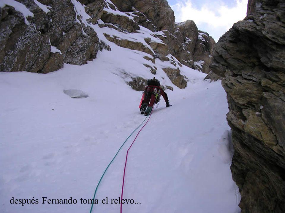 después Fernando toma el relevo...