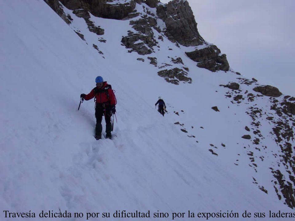 Travesía delicada no por su dificultad sino por la exposición de sus laderas