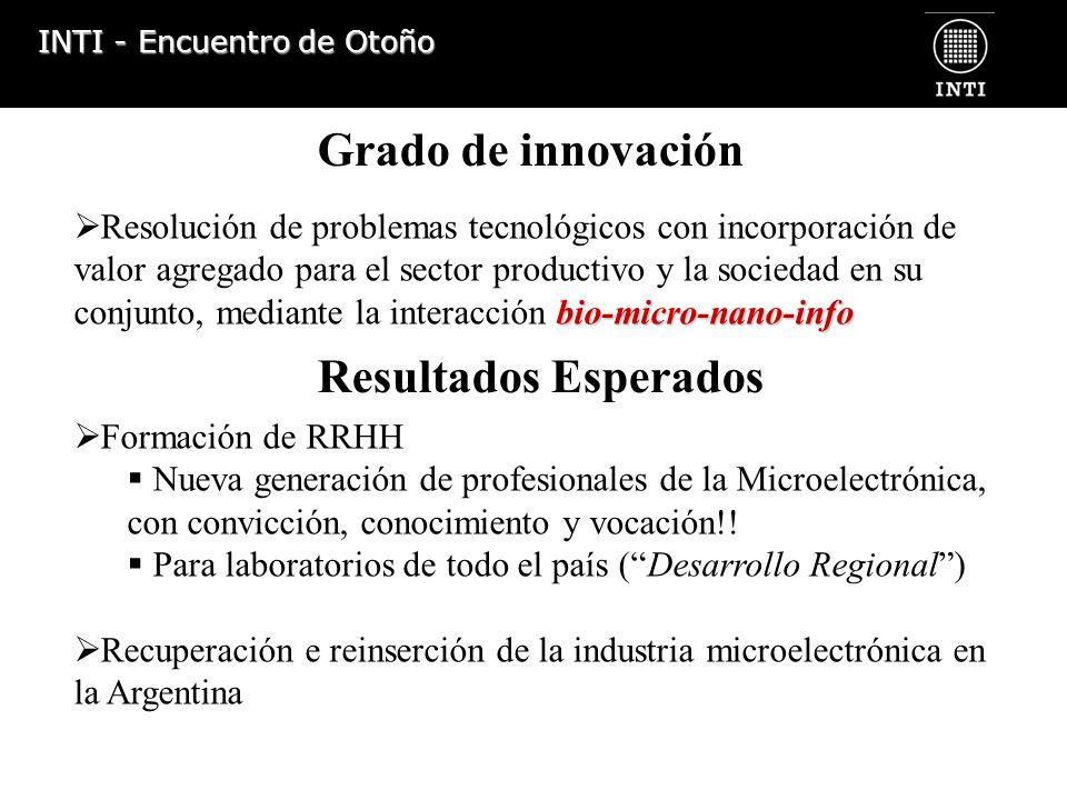 INTI - Encuentro de Otoño bio-micro-nano-info Resolución de problemas tecnológicos con incorporación de valor agregado para el sector productivo y la