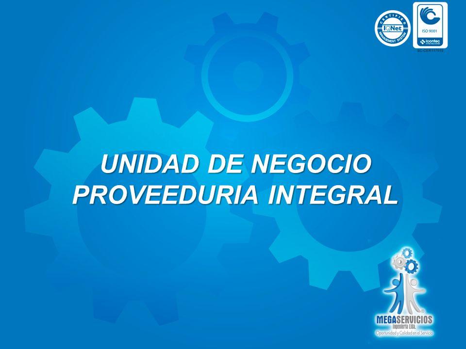 PROVEEDURIA INTEGRAL Empresa líder en la prestación de servicio de Outsoursing Empresarial con líneas de productos de optima calidad NUESTROS PRODUCTOS 1.DIVISION DE SEGURIDAD INDUSTRIAL Dotación Industrial.