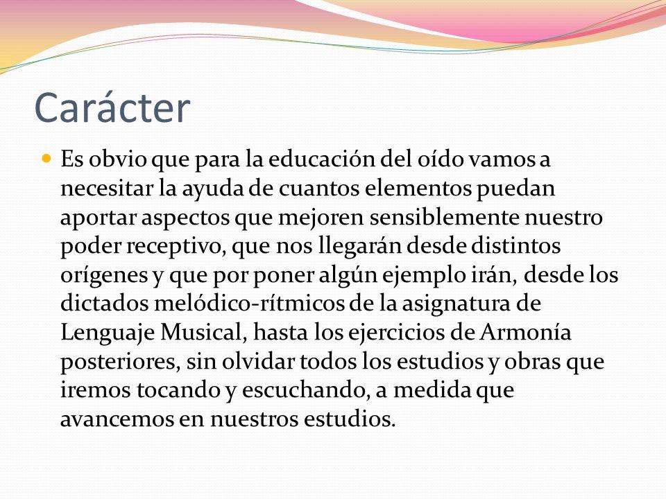 Metodología Presentación al alumno/a de la partitura que se va a escuchar en la audición.
