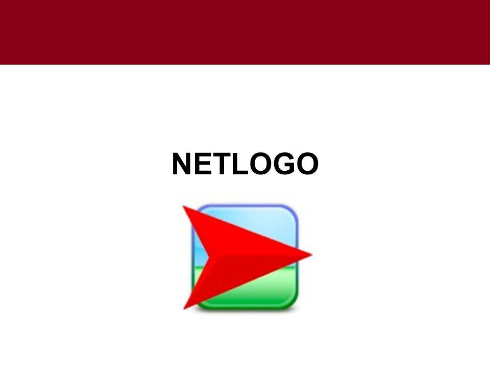Simulación en Netlogo Netlogo es un lenguaje de programación que sigue la filosofía del modelado basado en agentes.modelado basado en agentes Concretamente, en Netlogo existen 3 tipos de agentes: Turtles (tortugas).