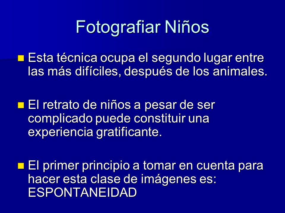 Fotografiar Niños Esta técnica ocupa el segundo lugar entre las más difíciles, después de los animales.