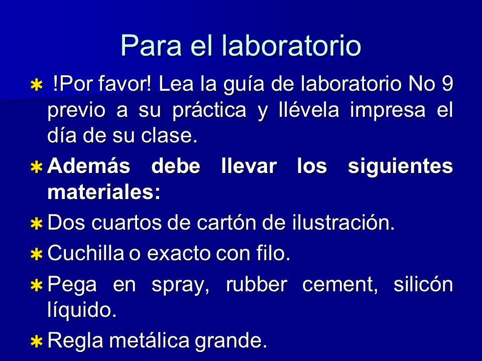 Para el laboratorio !Por favor.