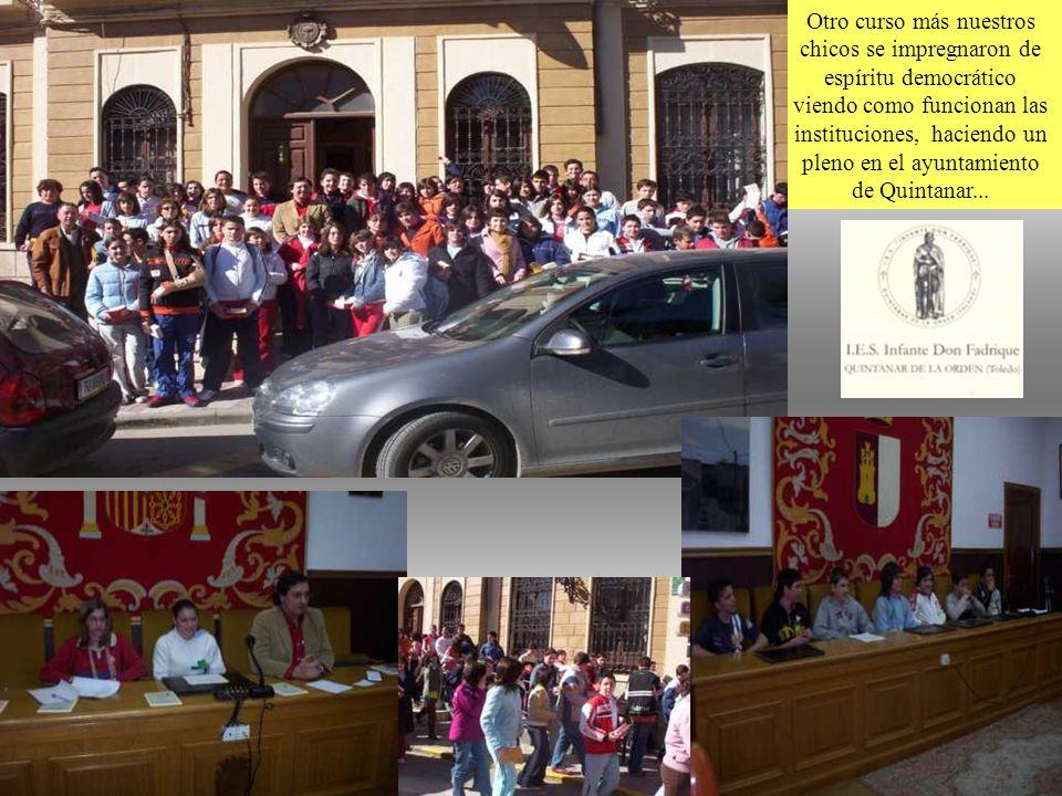 14 Otro curso más nuestros chicos se impregnaron de espíritu democrático viendo como funcionan las instituciones, haciendo un pleno en el ayuntamiento de Quintanar...