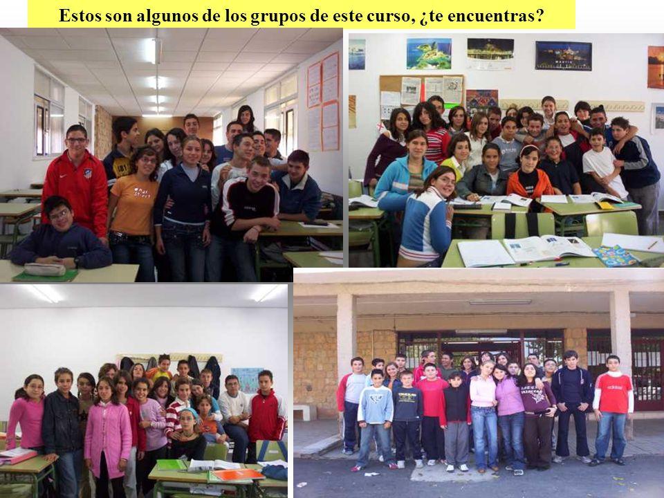 16 Estos son algunos de los grupos de este curso, ¿te encuentras?