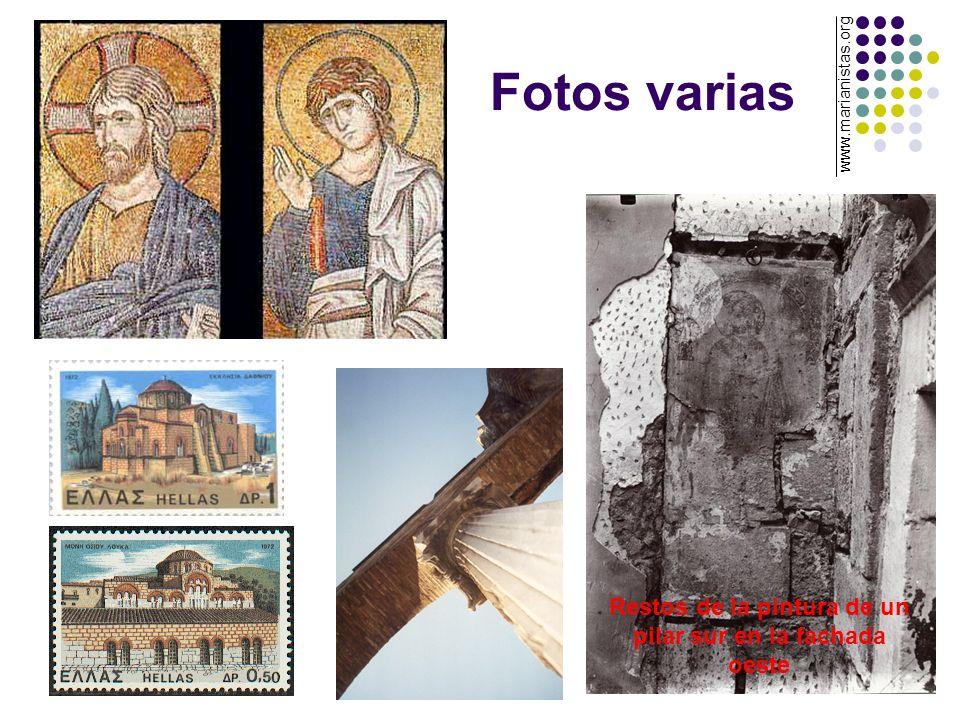 Fotos varias Restos de la pintura de un pilar sur en la fachada oeste www.marianistas.org