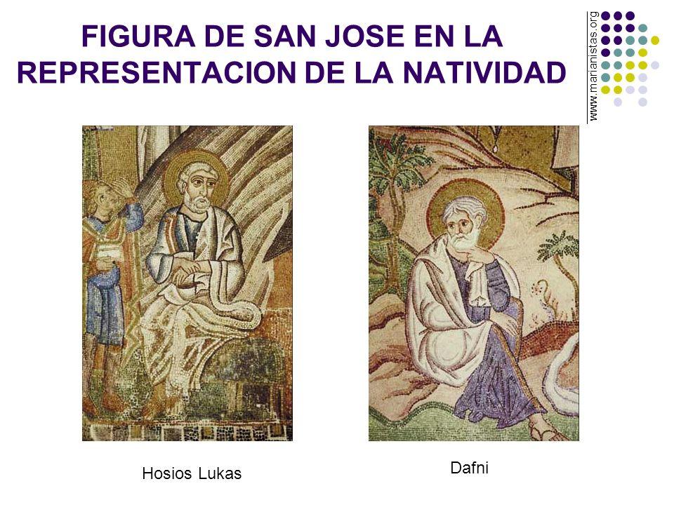 FIGURA DE SAN JOSE EN LA REPRESENTACION DE LA NATIVIDAD Hosios Lukas Dafni www.marianistas.org