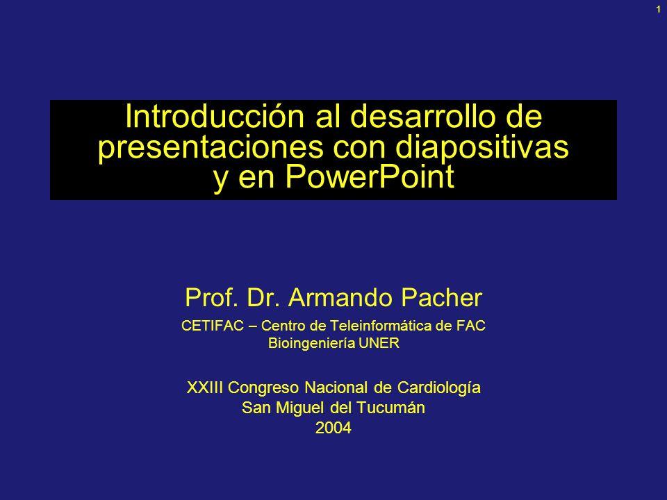 1 Introducción al desarrollo de presentaciones con diapositivas y en PowerPoint Prof.