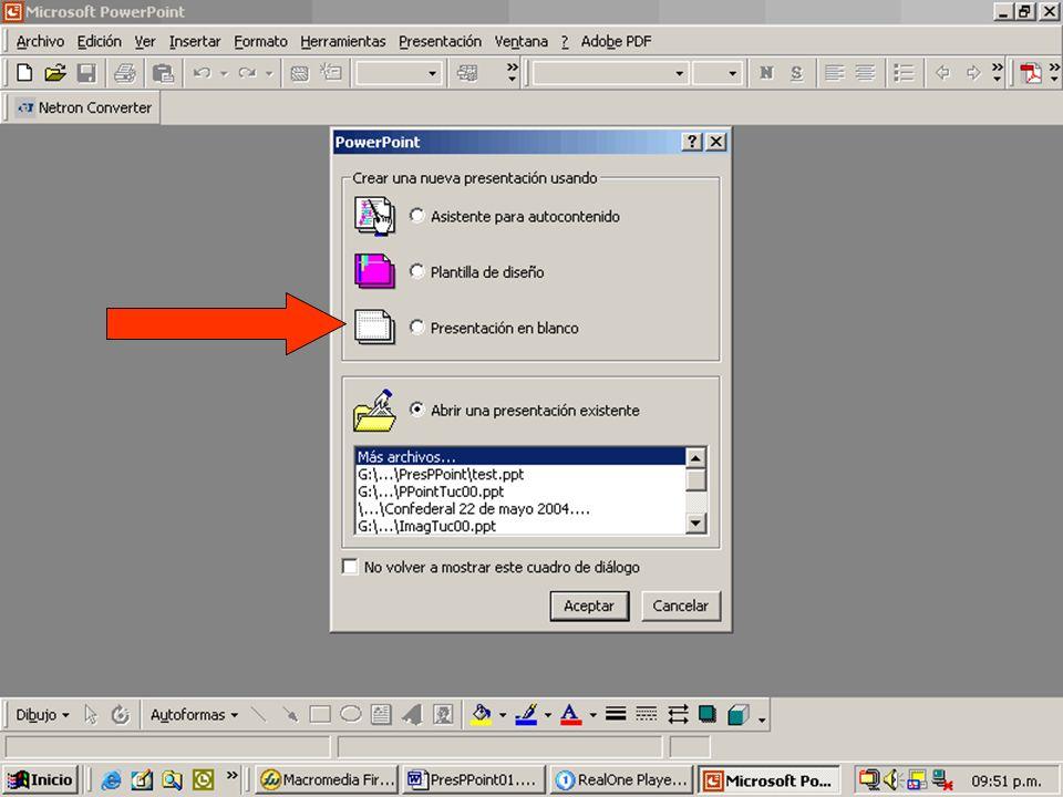 14 Introducción a PowerPoint ¿Cómo se obtiene PowerPoint? –Es parte de MS Office (Word, Access, Excel, etc.) ¿Qué versión conviene utilizar? ¿Cómo se
