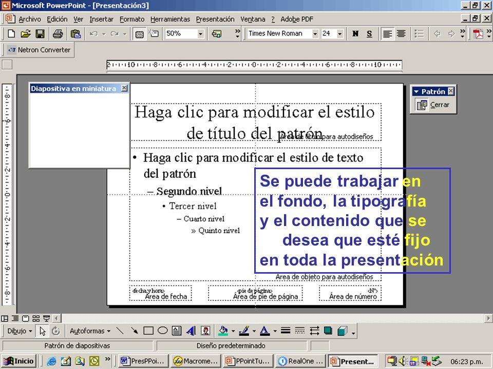 37 Diseño inicial: Patrón de diapositivas