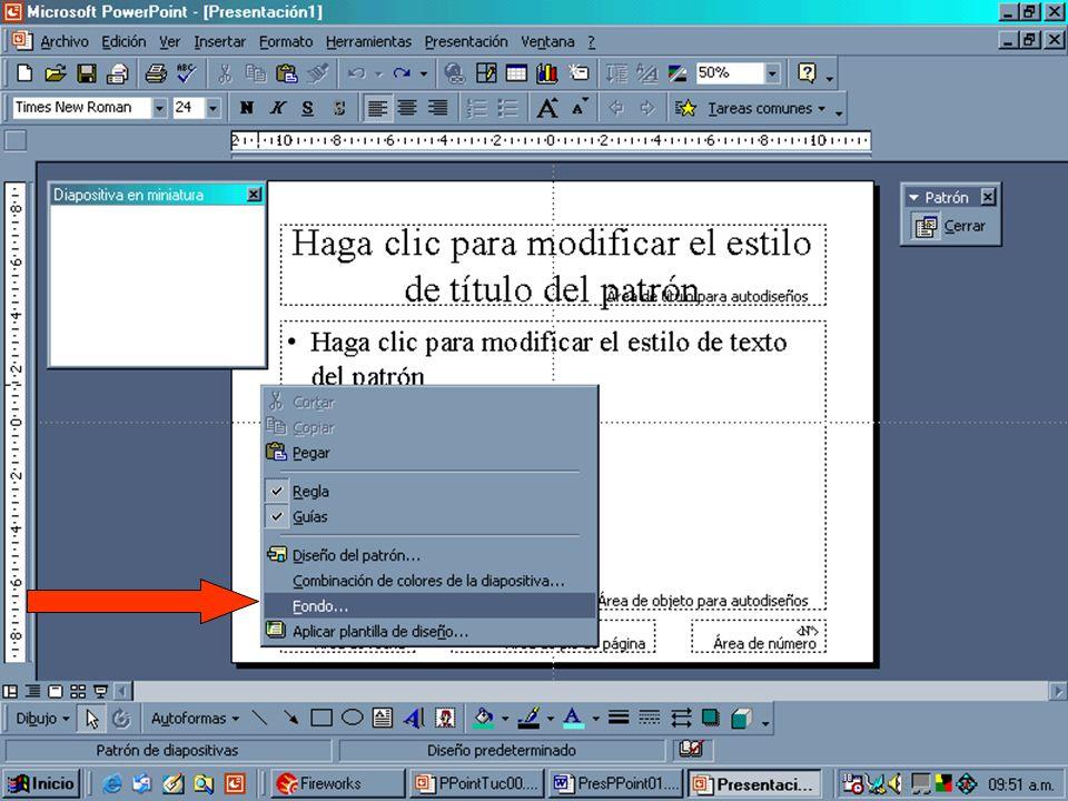 38 Se puede trabajar en el fondo, la tipografía y el contenido que se desea que esté fijo en toda la presentación