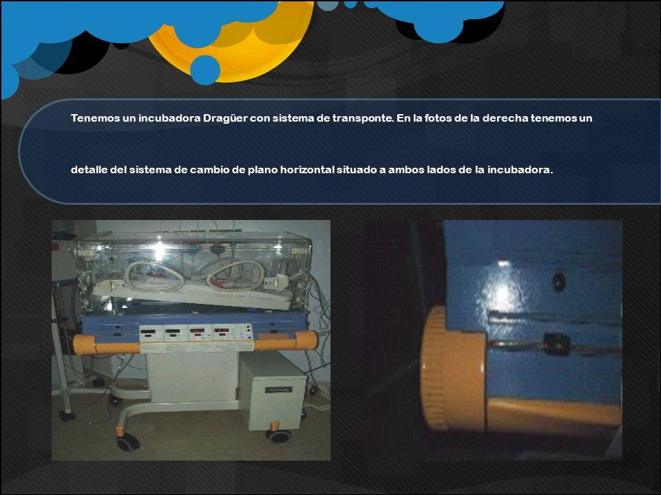 Tenemos un incubadora Dragüer con sistema de transponte. En la fotos de la derecha tenemos un detalle del sistema de cambio de plano horizontal situad
