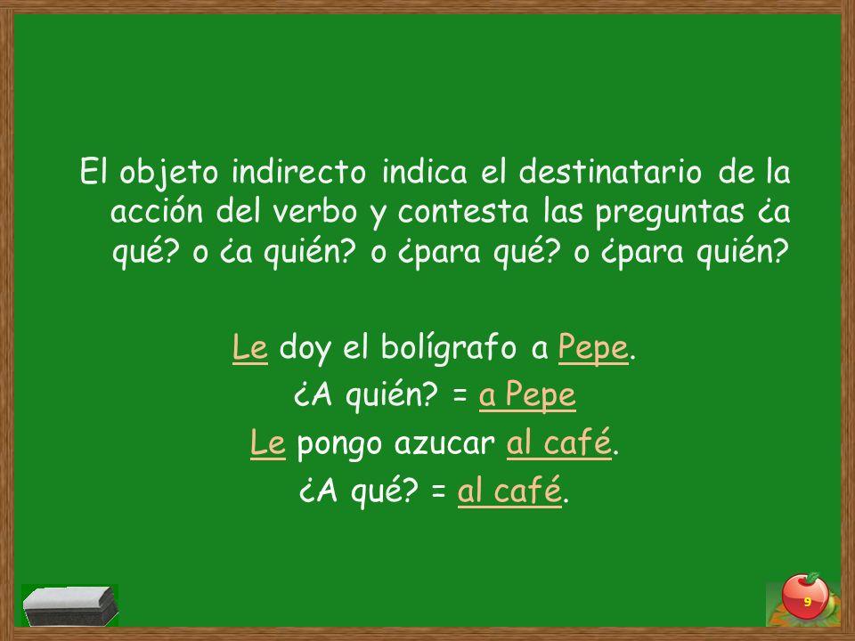 El objeto indirecto se puede reemplazar con los pronombres del objeto indirecto.
