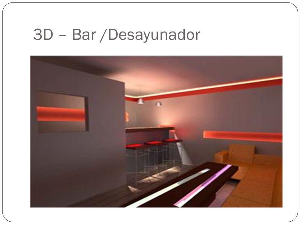 3D – Bar /Desayunador