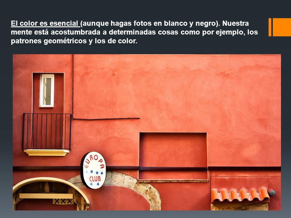 El color es esencial (aunque hagas fotos en blanco y negro). Nuestra mente está acostumbrada a determinadas cosas como por ejemplo, los patrones geomé