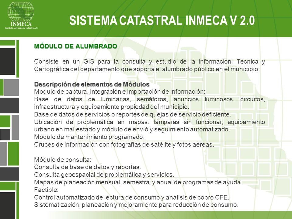 MÓDULO DE ALUMBRADO Consiste en un GIS para la consulta y estudio de la información: Técnica y Cartográfica del departamento que soporta el alumbrado