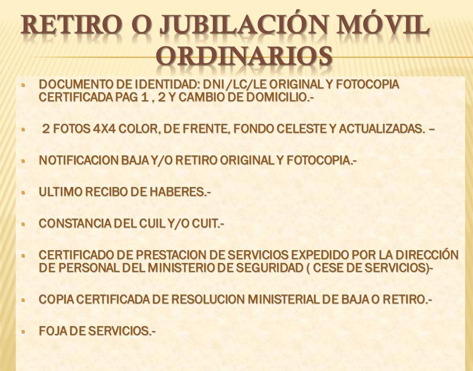 CAJA DE RETIROS CAJA DE RETIROS JUBILACIONES Y PENSIONES de la POLICIA de la de la POLICIA de la PROVINCIA DE BUENOS AIRES