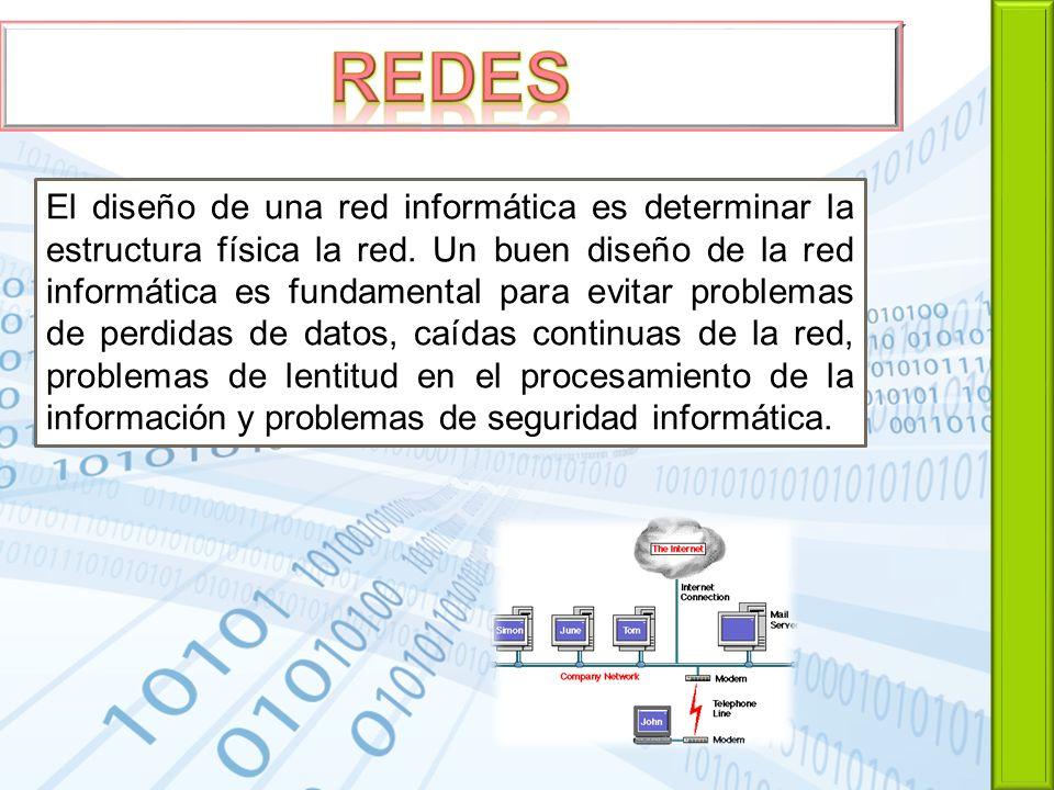El diseño de una red informática es determinar la estructura física la red. Un buen diseño de la red informática es fundamental para evitar problemas