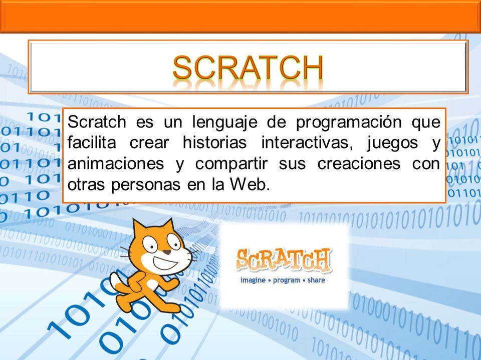 Scratch es un lenguaje de programación que facilita crear historias interactivas, juegos y animaciones y compartir sus creaciones con otras personas e