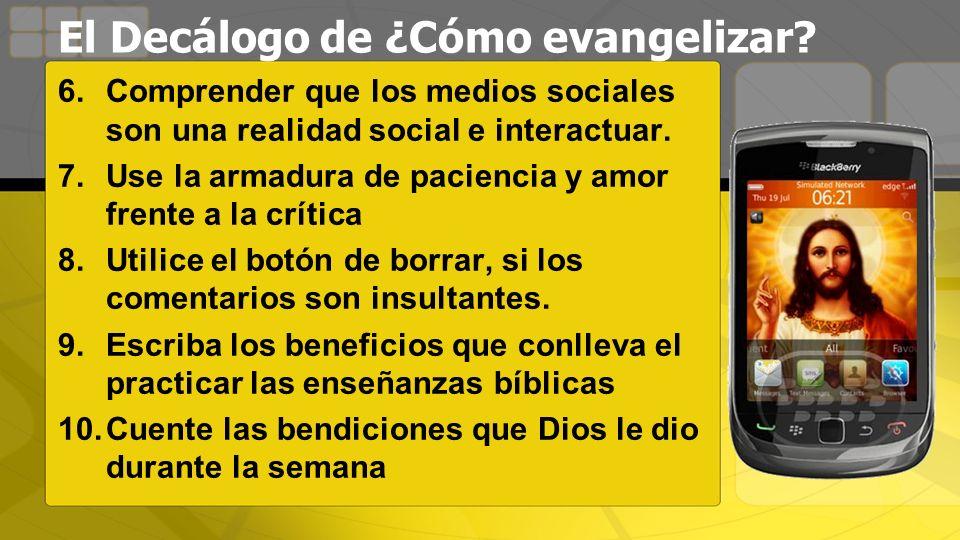 6.Comprender que los medios sociales son una realidad social e interactuar.