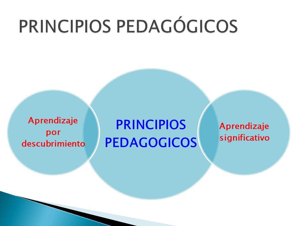 PRINCIPIOS PEDAGOGICOS Aprendizaje por descubrimiento Aprendizaje significativo