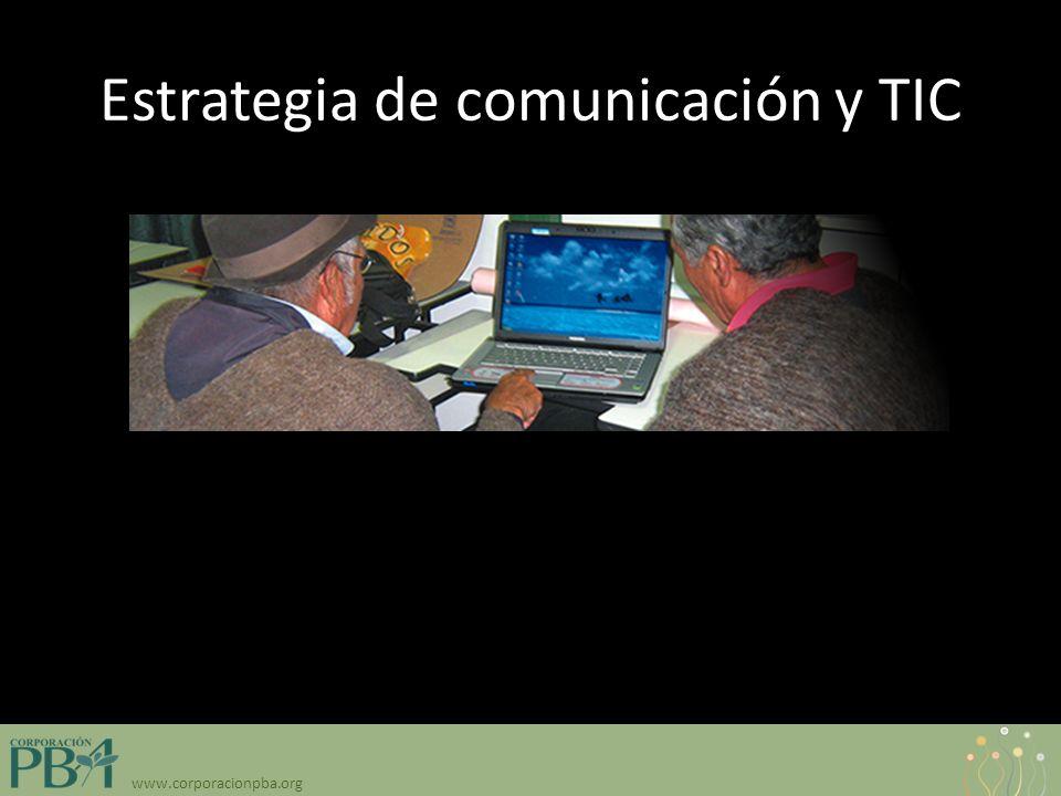 www.corporacionpba.org Estrategia de comunicación y TIC