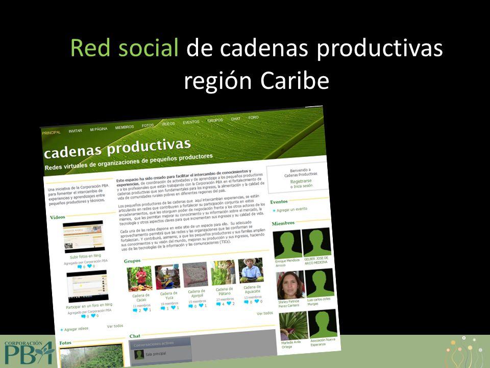 www.corporacionpba.org Red social de cadenas productivas región Caribe