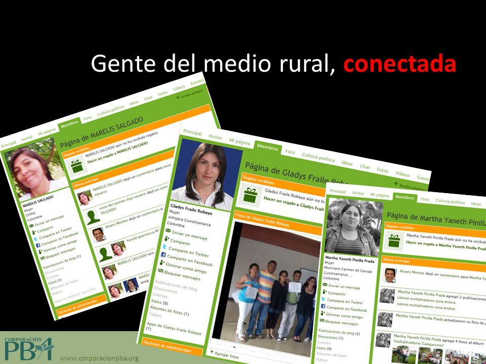 www.corporacionpba.org Gente del medio rural, conectada