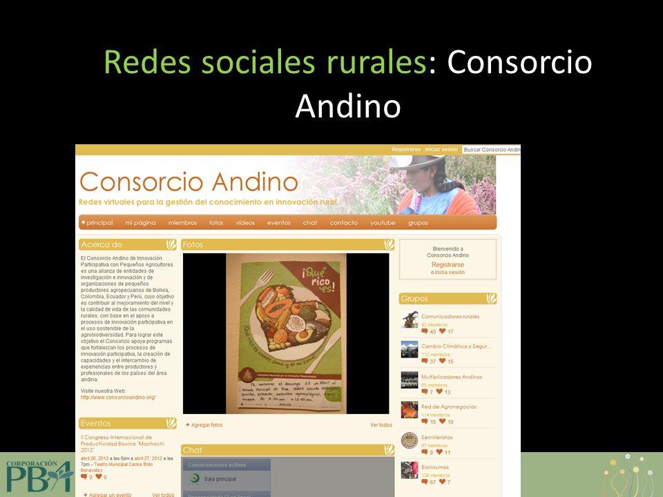 www.corporacionpba.org Redes sociales rurales: Consorcio Andino