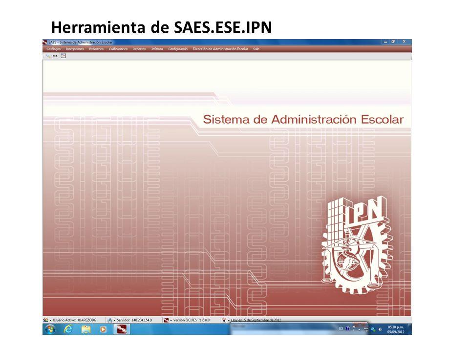 Herramienta de SAES.ESE.IPN