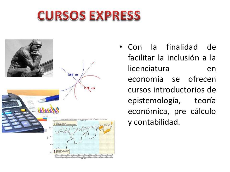 Con la finalidad de facilitar la inclusión a la licenciatura en economía se ofrecen cursos introductorios de epistemología, teoría económica, pre cálc