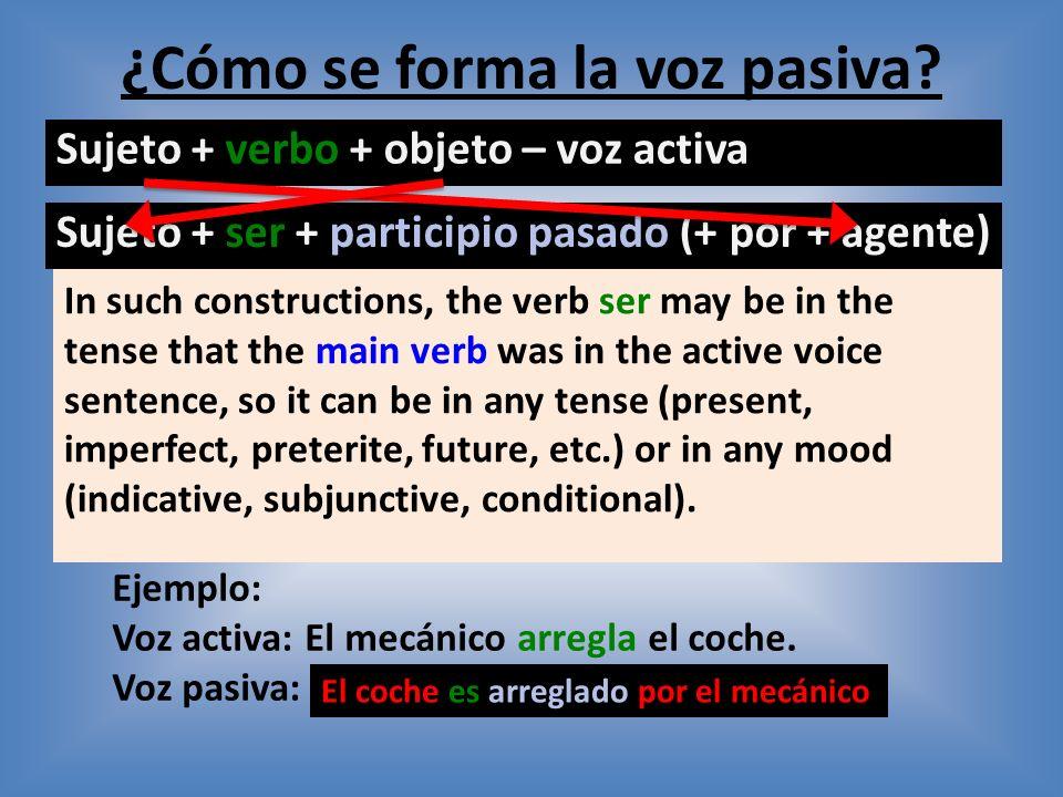 La voz pasiva Objetivo: Saber como pasar una frase en voz activa a voz pasiva. Jueves, 6 de junio de 2013 Escribid los participios pasados: 1. cerrar