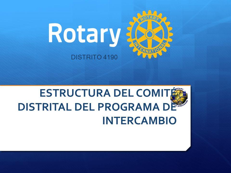 DISTRITO 4190 ESTRUCTURA DEL COMITÉ DISTRITAL DEL PROGRAMA DE INTERCAMBIO