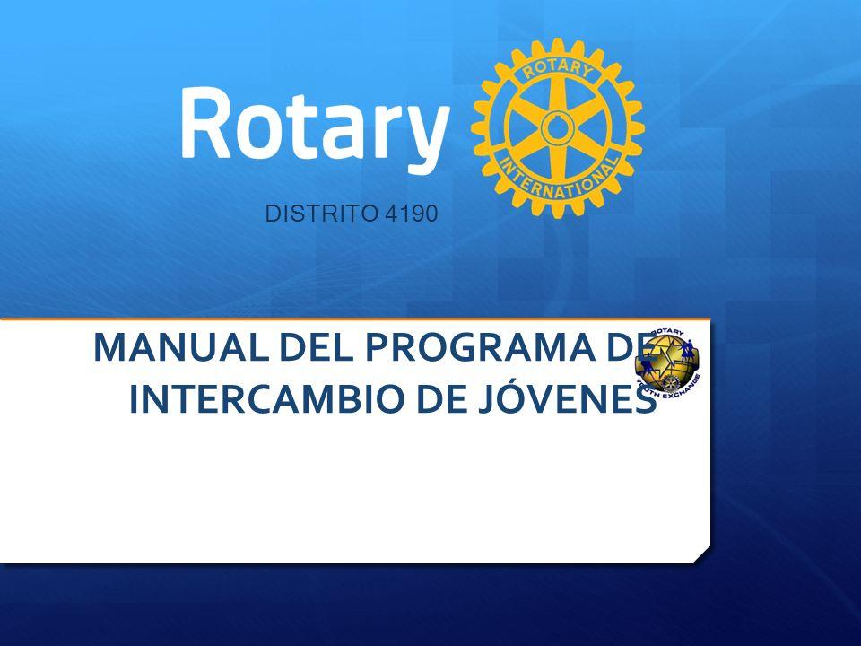 2.Los datos de registro del Club Promotor: Nombre del Club ID del Club Distrito Seminario Distrital del Programa de Intercambio de Jóvenes DISTRITO 4190