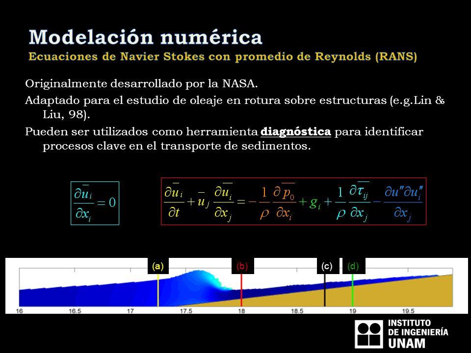 Originalmente desarrollado por la NASA. Adaptado para el estudio de oleaje en rotura sobre estructuras (e.g.Lin & Liu, 98). Pueden ser utilizados como