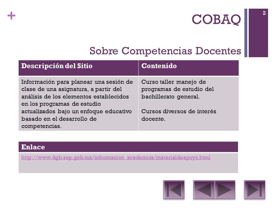 + COBAQ DescripciónNombre 1.Contiene un listado muy completo de recursos con licencias Creative Commons de video, música, audio, fotos e imágenes.