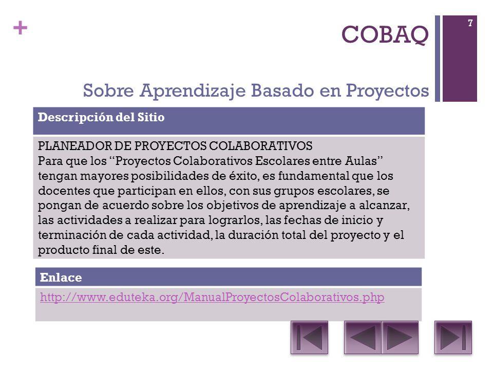 + COBAQ Descripción del Sitio Impress: es una herramienta de vanguardia para crear presentaciones multimedia efectivas que pueden ser mejoradas con imágenes prediseñadas en 2D y 3D, efectos especiales y estilos de transición, animaciones y herramientas de dibujo de alto impacto.