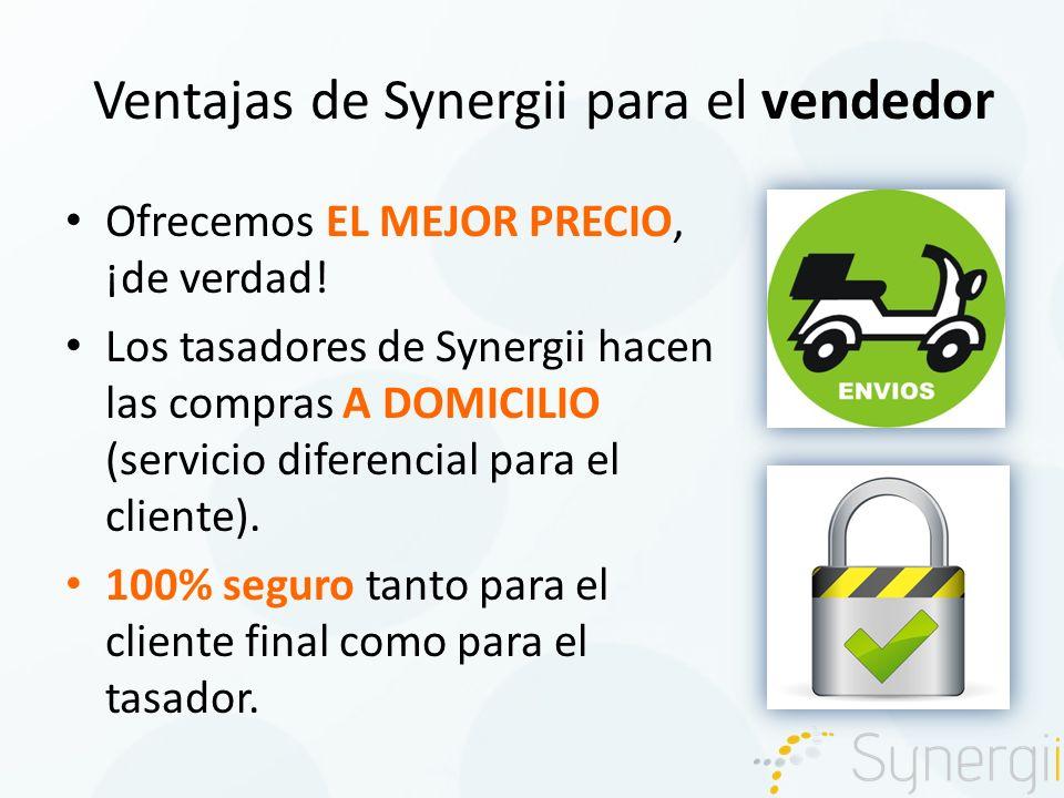 Ventajas de Synergii para el vendedor Ofrecemos EL MEJOR PRECIO, ¡de verdad.