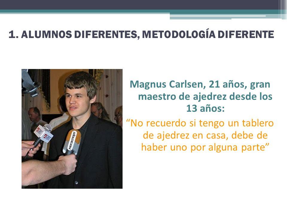 Magnus Carlsen, 21 años, gran maestro de ajedrez desde los 13 años: No recuerdo si tengo un tablero de ajedrez en casa, debe de haber uno por alguna p