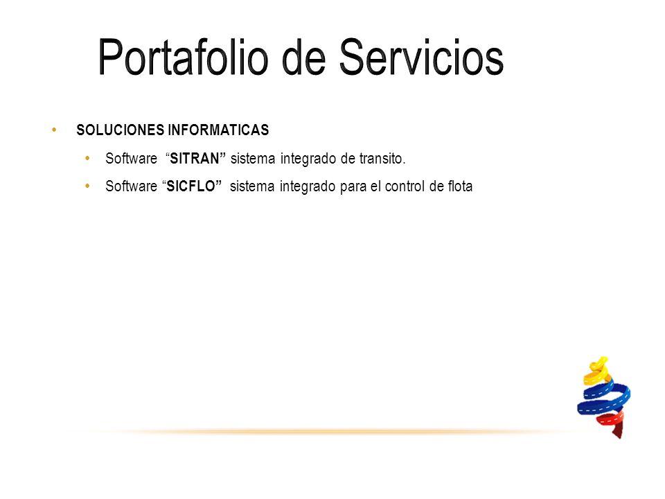 SOLUCIONES INFORMATICAS Software SITRAN sistema integrado de transito.