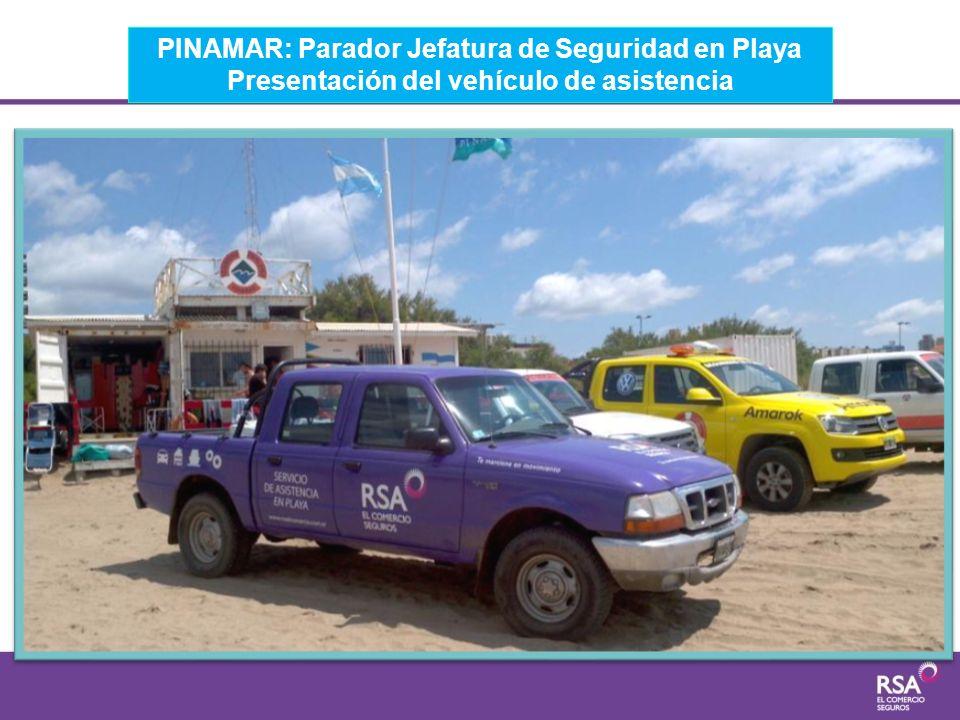 PINAMAR: Parador Jefatura de Seguridad en Playa Presentación del vehículo de asistencia