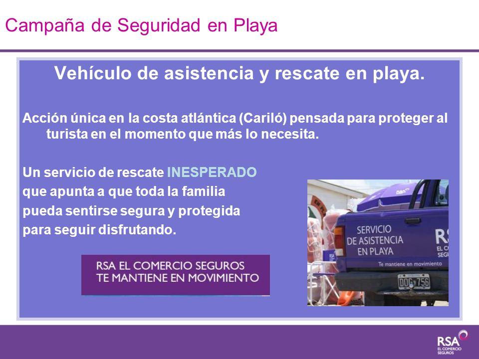 Vehículo de asistencia y rescate en playa. Acción única en la costa atlántica (Cariló) pensada para proteger al turista en el momento que más lo neces