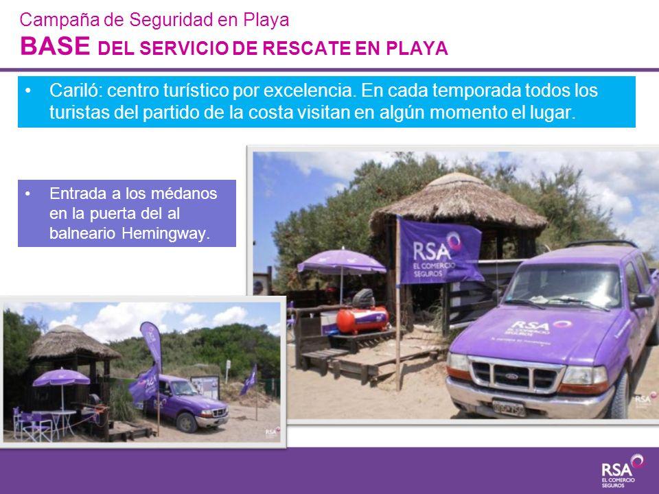 Campaña de Seguridad en Playa BASE DEL SERVICIO DE RESCATE EN PLAYA Cariló: centro turístico por excelencia. En cada temporada todos los turistas del
