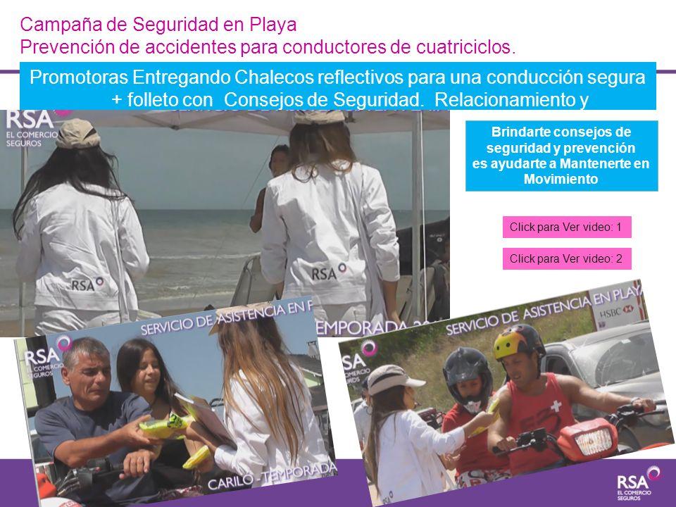 Campaña de Seguridad en Playa Prevención de accidentes para conductores de cuatriciclos. Promotoras Entregando Chalecos reflectivos para una conducció