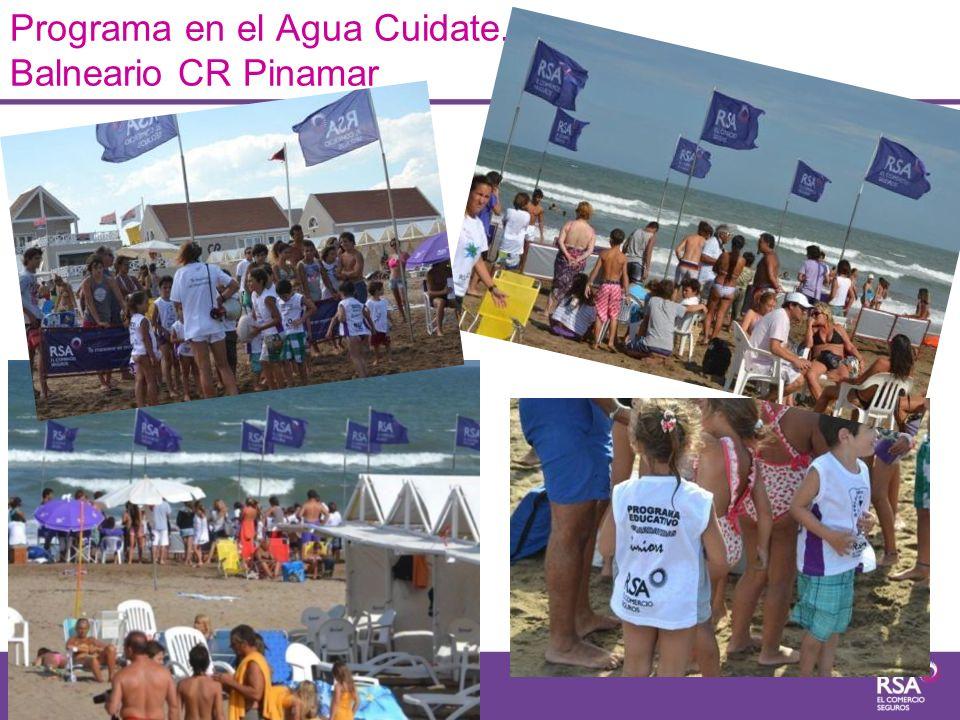 Programa en el Agua Cuidate. Balneario CR Pinamar