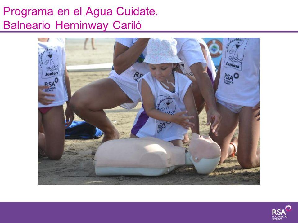Programa en el Agua Cuidate. Balneario Heminway Cariló