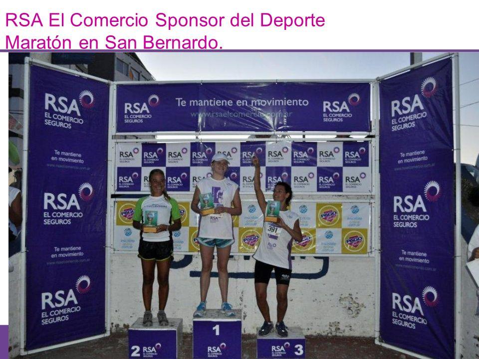 RSA El Comercio Sponsor del Deporte Maratón en San Bernardo. Fomentar el deporte y la Vida Sana es Mantenerte en Movimiento