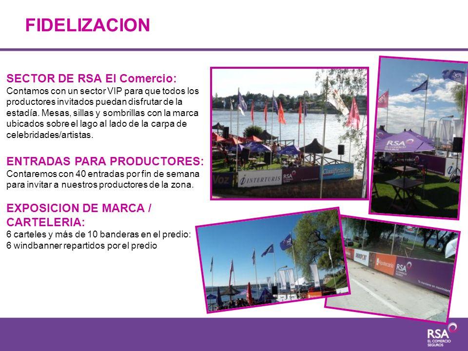 FIDELIZACION SECTOR DE RSA El Comercio: Contamos con un sector VIP para que todos los productores invitados puedan disfrutar de la estadía. Mesas, sil