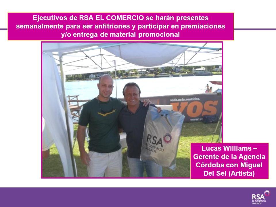 Ejecutivos de RSA EL COMERCIO se harán presentes semanalmente para ser anfitriones y participar en premiaciones y/o entrega de material promocional Lu